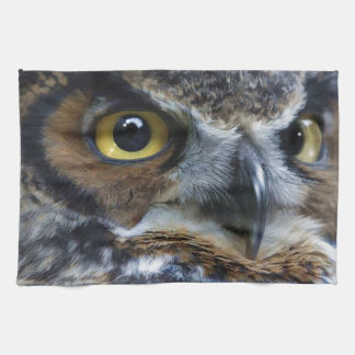 Great Grey Owl Eyes Wildlife Tea-Towel Tea Towel