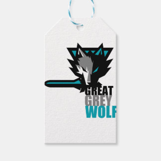 Great Grey Wolf Gift Tags