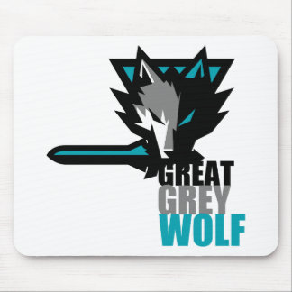 Great Grey Wolf Mouse Pad