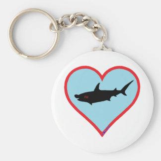 great hammerhead shark key ring