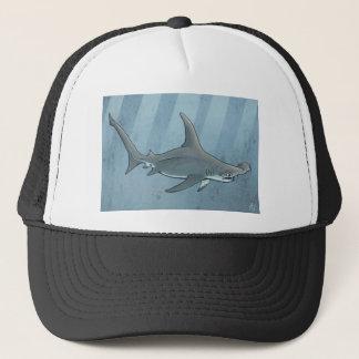Great hammerhead shark trucker hat