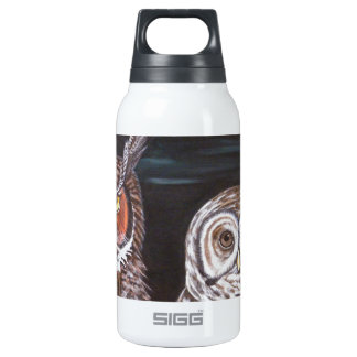 Great Horned & Barred Owls 0.3 Litre Insulated SIGG Thermos Water Bottle