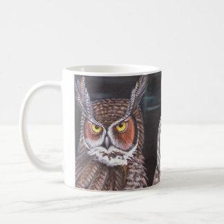 Great Horned & Barred Owls Basic White Mug