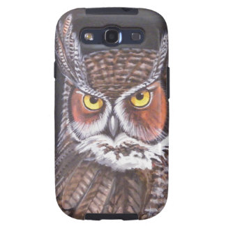 Great Horned & Barred Owls Galaxy S3 Covers