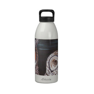 Great Horned & Barred Owls Reusable Water Bottles