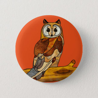 Great Horned Owl 6 Cm Round Badge