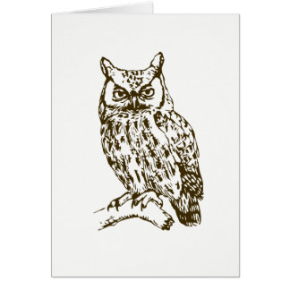 Great Horned Owl Blank Inside Card