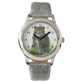 Great Horned Owl Customizable Watches