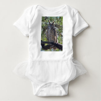 Great Horned Owl in the Tree Baby Bodysuit