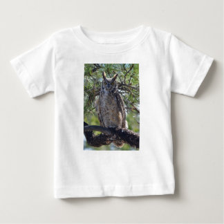Great Horned Owl in the Tree Baby T-Shirt