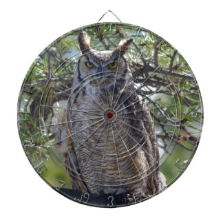 Great Horned Owl in the Tree Dartboard