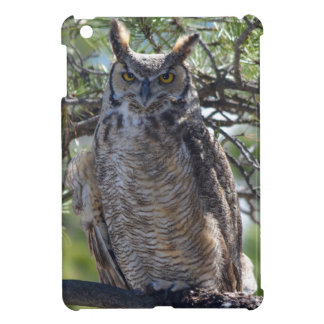 Great Horned Owl in the Tree iPad Mini Covers