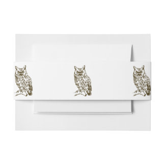 Great Horned Owl Invitation Belly Band