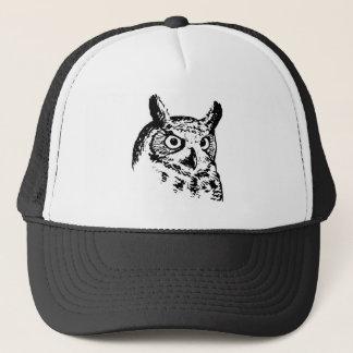 Great Horned Owl Logo Trucker Hat