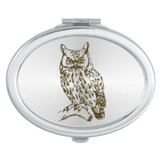 Great Horned Owl Makeup Mirror