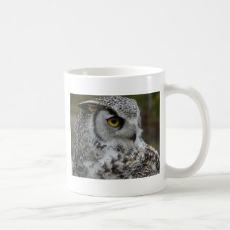 Great Horned Owl Photograph Basic White Mug