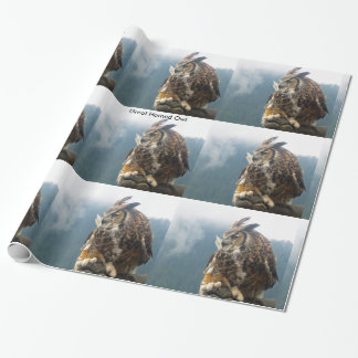 Great Horned Owl Wrapping Paper