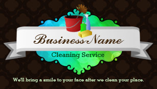 Commercial Cleaning Business Cards | Zazzle AU