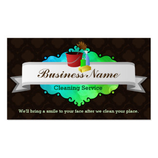 Great House cleaning business cards Pack Of Standard Business Cards
