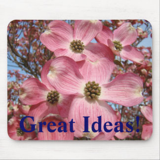 Great Ideas! mousepad Pink Dogwood Blossoms