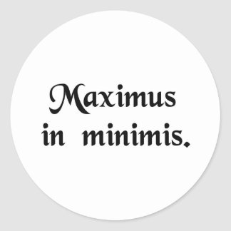 Great in little things. round sticker
