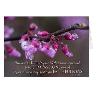Great is thy faithfulness card