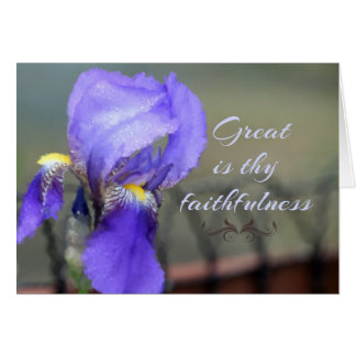 Great Is Thy Faithfulness Greeting Card
