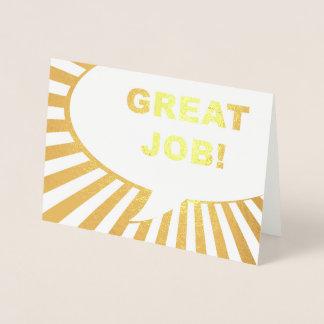 great job comic bubble gold foil foil card