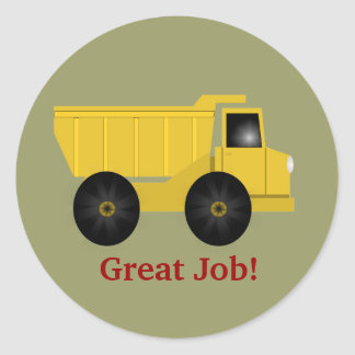 Great Job Dump Truck Sticker - Personalize It!