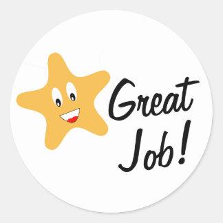 Great Job! Gold Star Classic Round Sticker