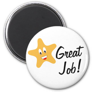 Great Job Gold Star 6 Cm Round Magnet