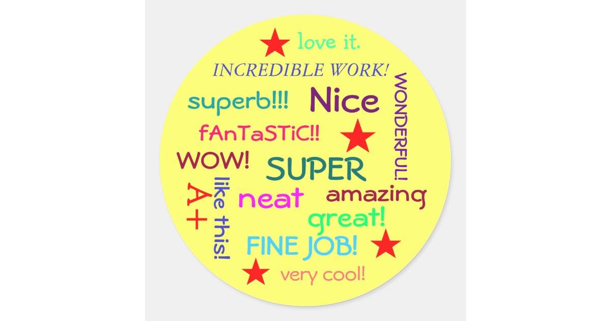 great job student classic round sticker zazzle com au