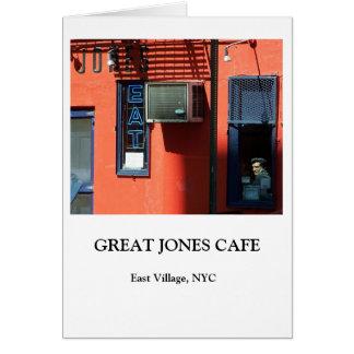 GREAT JONES CAFE CARD