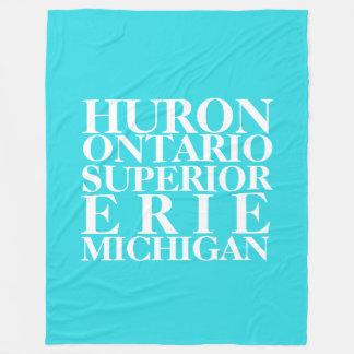 Great Lakes Fleece Blanket, Large