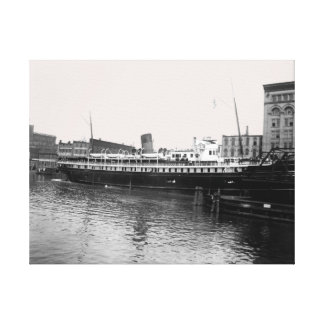 Great Lakes Ship Virginia @ Milwaukee 1890's Photo Canvas Print