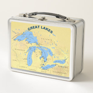 Great Lakes Where I Live Metal Lunch Box Add Name