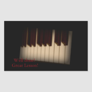 Great Lesson Piano Keys Rectangle Sticker