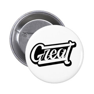Great Lettering 6 Cm Round Badge