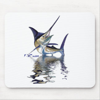Great marlin with reflection in water mouse pad