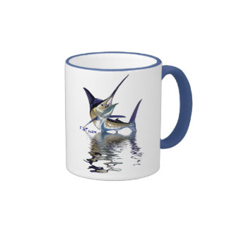 Great marlin with reflection in water mugs