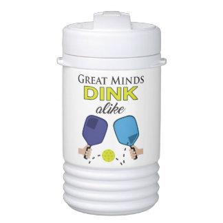"""""""Great Minds Dink Alike"""" Pickleball Water Jug Drinks Cooler"""