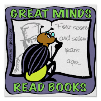 Great Minds Read Books Poster