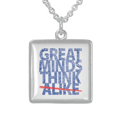 Great Minds Think Alike Necklaces