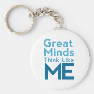 Great Minds Think Like Me Keychain