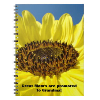 Great Mom's are Promoted to Grandma! notebooks