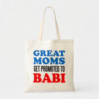 Great Moms Promoted To Babi Czech Grandmother Tote Bag