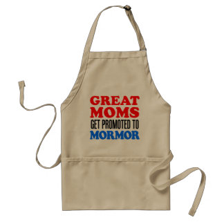 Great Moms Promoted To Mormor Standard Apron