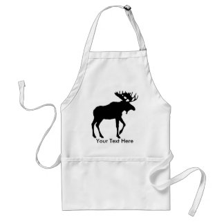 Great Moose Design Apron to Customize