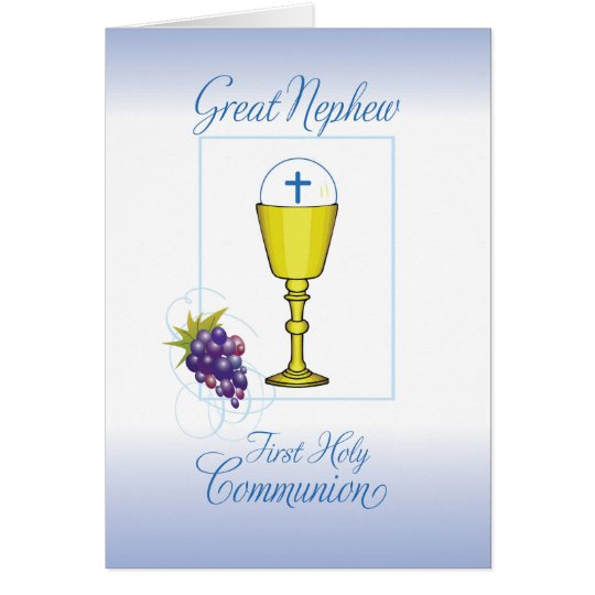 Great Nephew First Communion, Chalice with Host Card