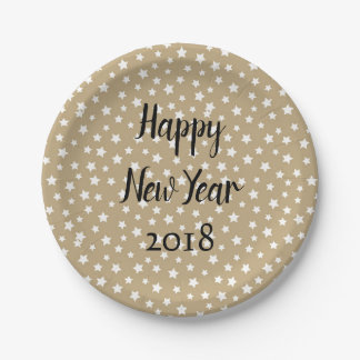 Great New Year Party Paper Plate